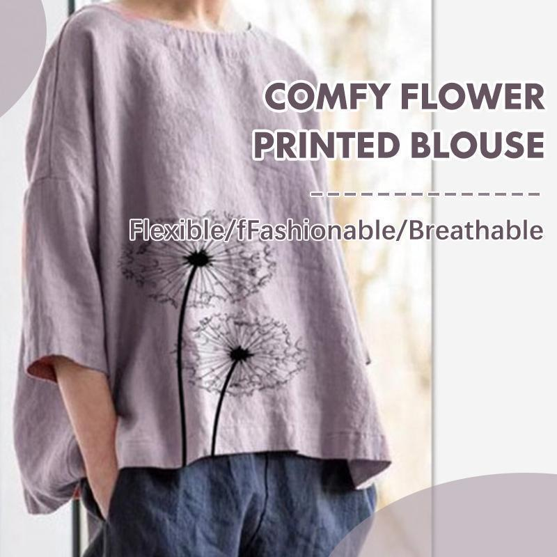 Comfy Flower Printed Blouse
