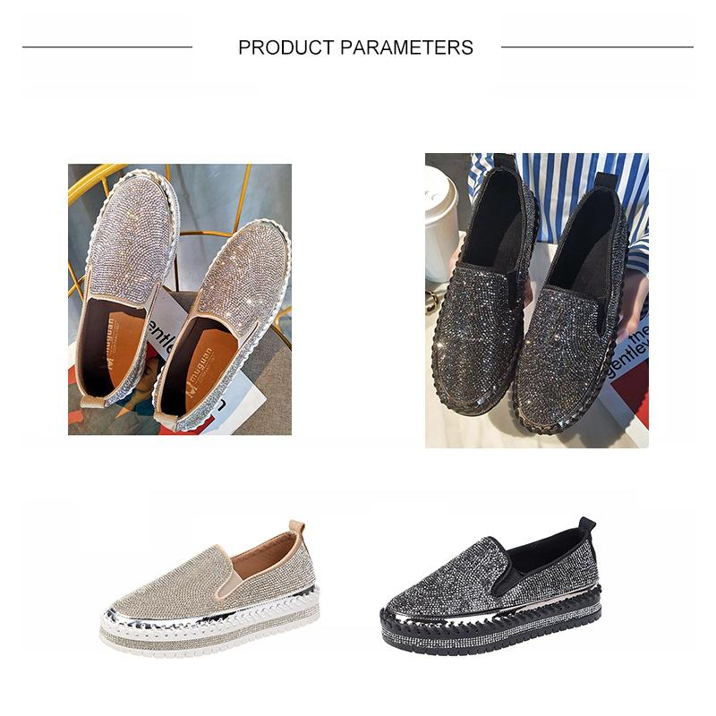 Rhinestone Slip-on Loafers/ Sneakers