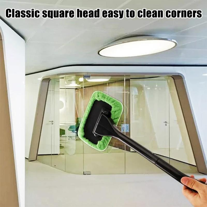 Windscreen Cleaner, with 2 reusable microfiber hood