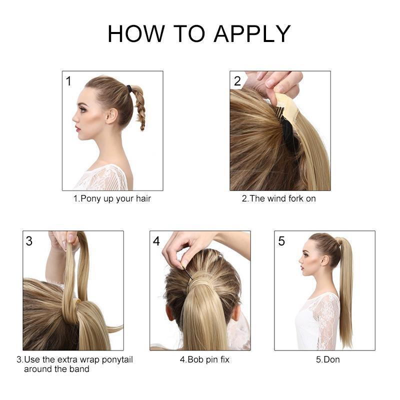 Clip-in Long Straight Ponytail Hair Extension