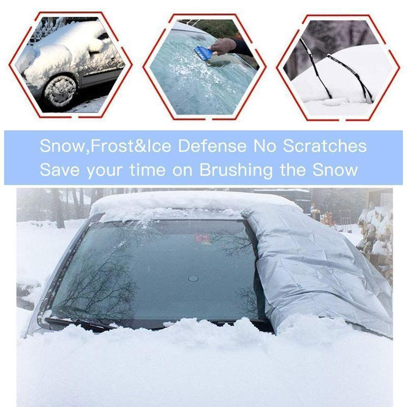 Car Windshield Snow Cover, With 2 Adjustable Car Side Mirror Covers