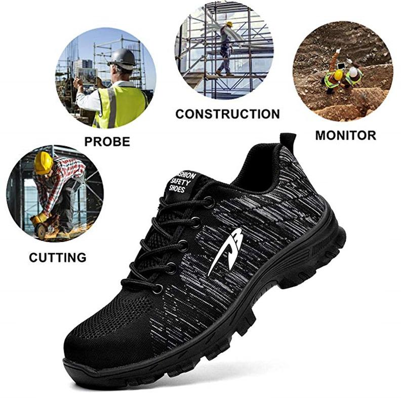Breathable Lightweight Steel Toe Shoes
