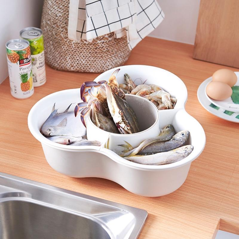 Creative Multifunctional Double-Layer Drain Basket