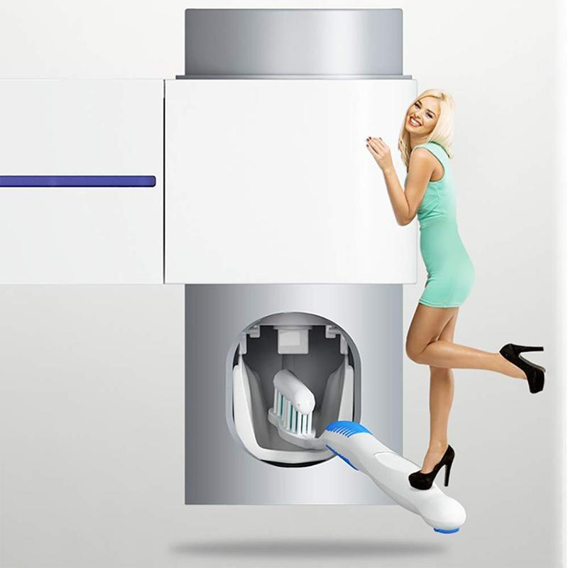 2-IN-1 Ultraviolet Toothbrush Disinfector Automatic Toothpaste Distributor