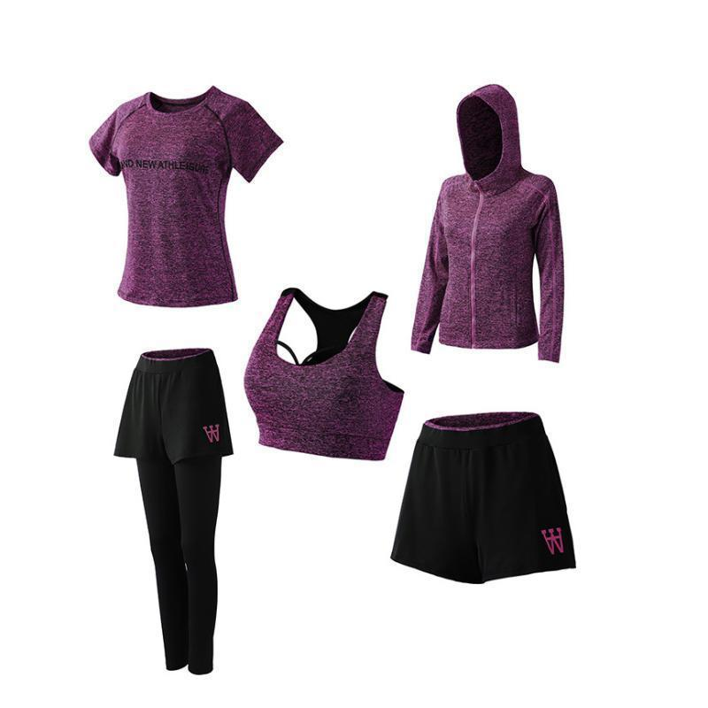 Women's Quick Dry Sportsuit Set Of 5PCs
