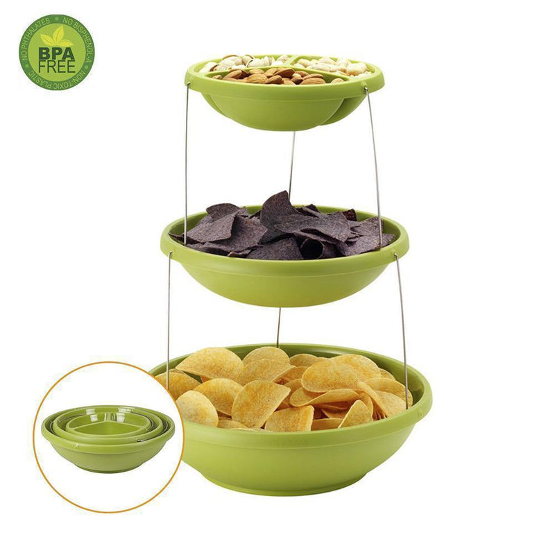 Hirundo Fozzils Twistfold Party Bowls (3 Tiers)