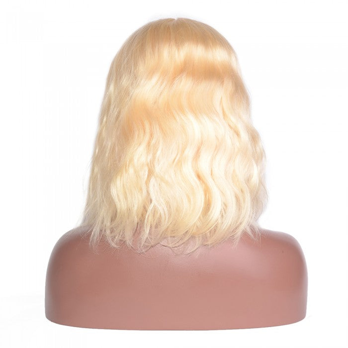 Pre-Plucked Lace Front Russian Blonde Body Wavy Bob Wig