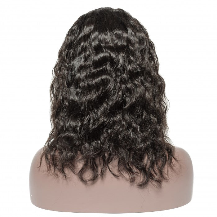 Pre-Plucked 13 x 6 Natural Wave Bob Wig