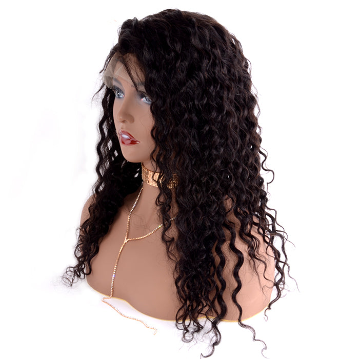 13x6 Frontal Lace Wig 150% Density Deep Curly