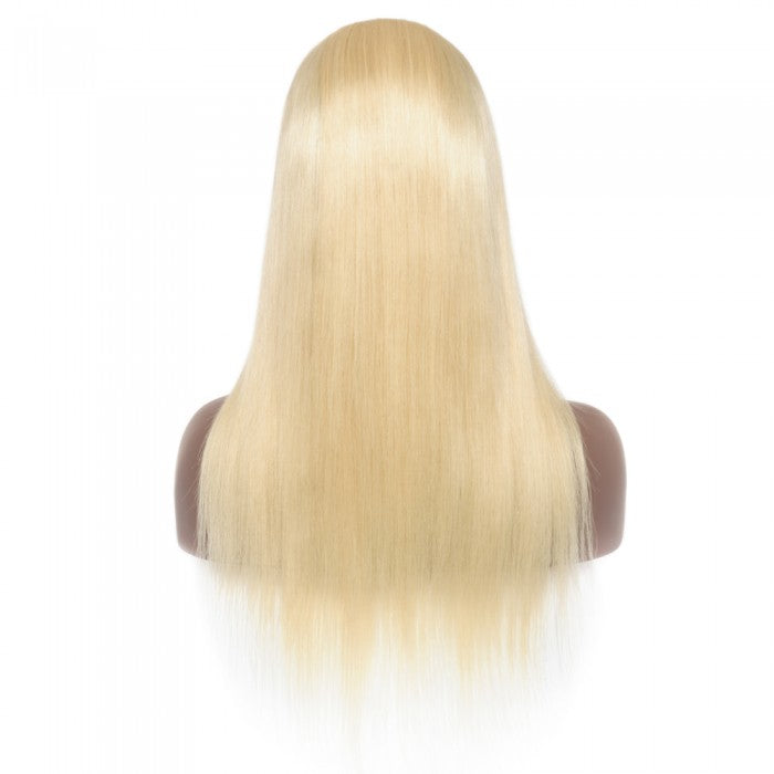 Pre-Plucked 13x6 Russian Blonde Straight Frontal Lace Wig
