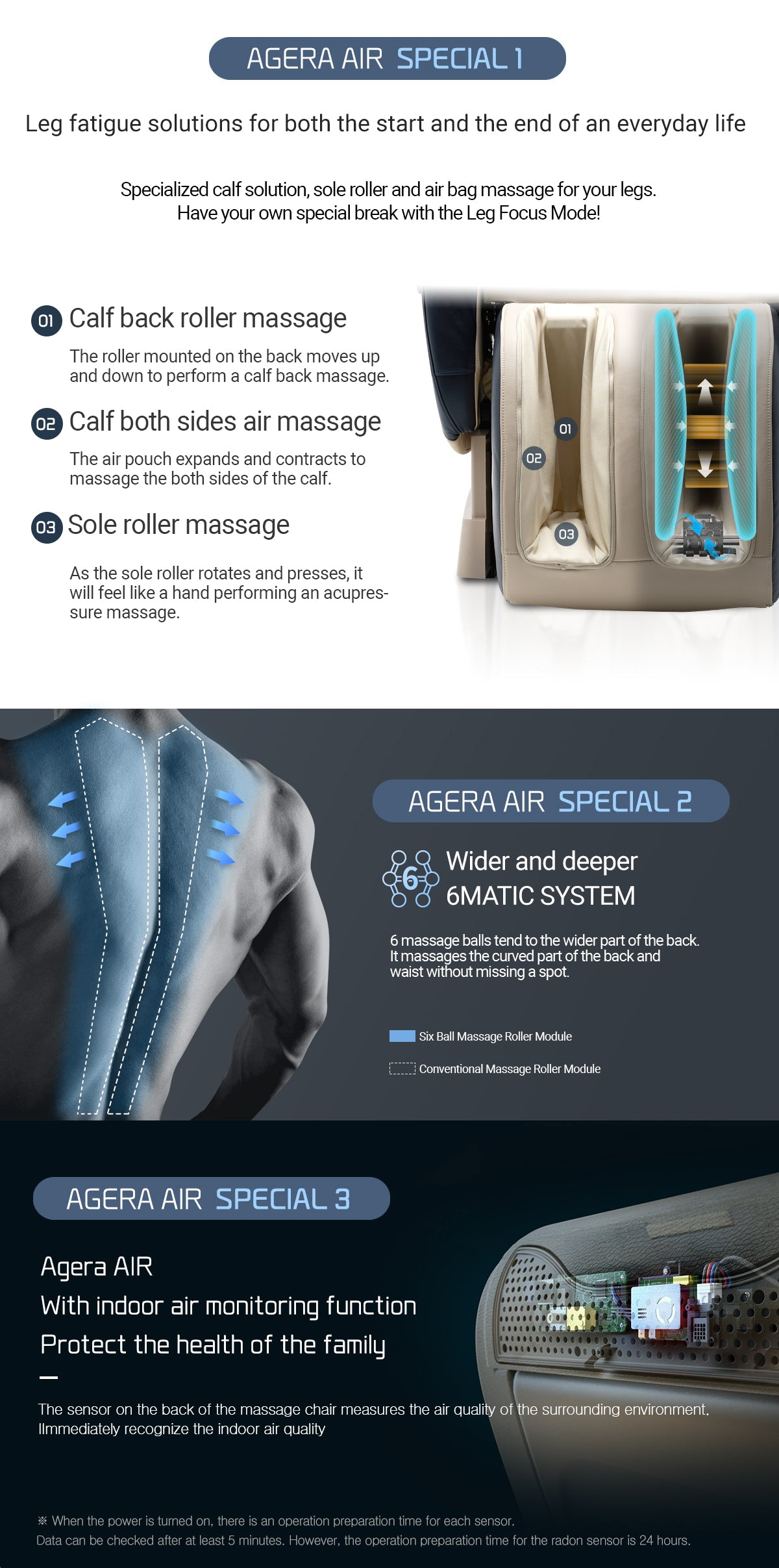 Agera Air's Special Functions