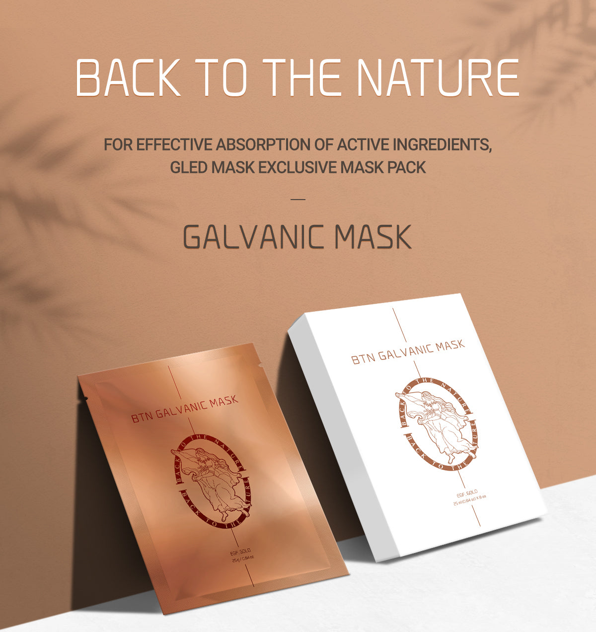 Back to The Nature, For Effective Absorption of Active Ingredients Galvanic Mask