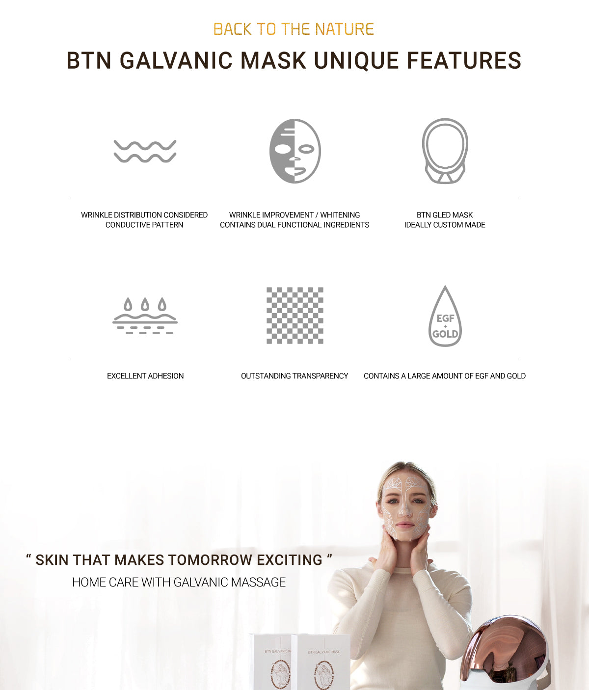 BTN Galvanic Mask Unique Features Such as Wrinkle Distribution Considered Conductive Pattern And Outstanding Transparency