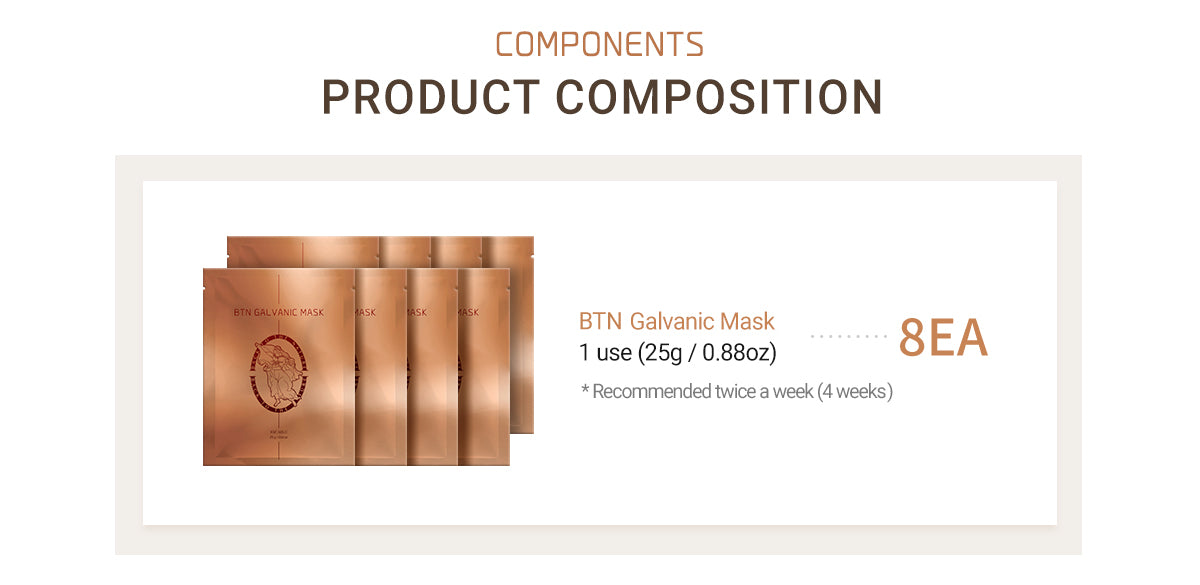 Galvanic Mask Includes 8 Mask Per Pack With Recommendation of Twice a Week For 4 Weeks