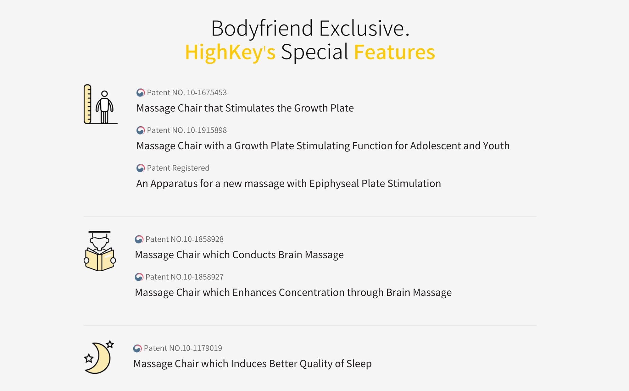 Bodyfriend Exclusive, HighKey's Special Features