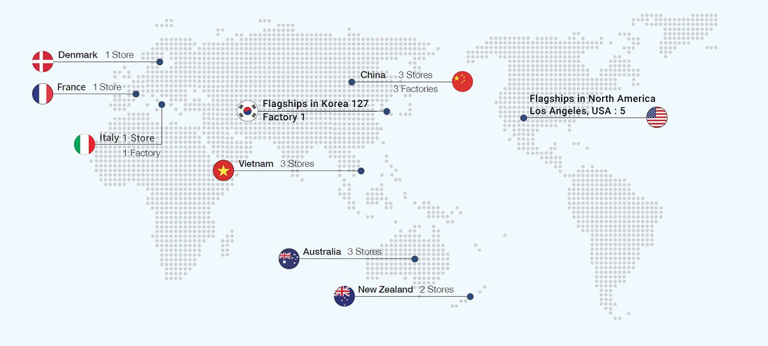 Bodyfriend Worldwide Flagship Locations