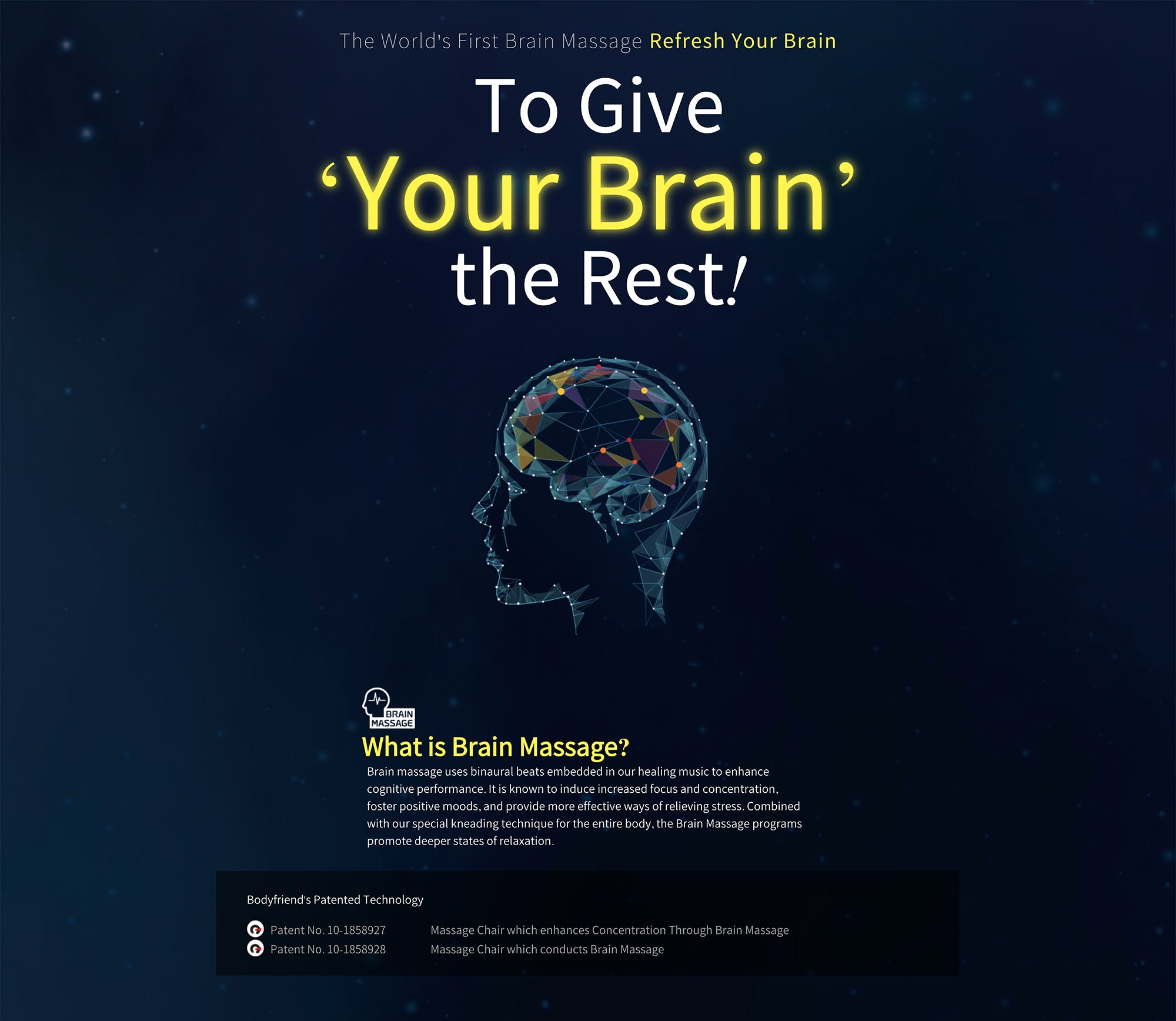 The World's First Brain Massage, Refresh Your Brain
