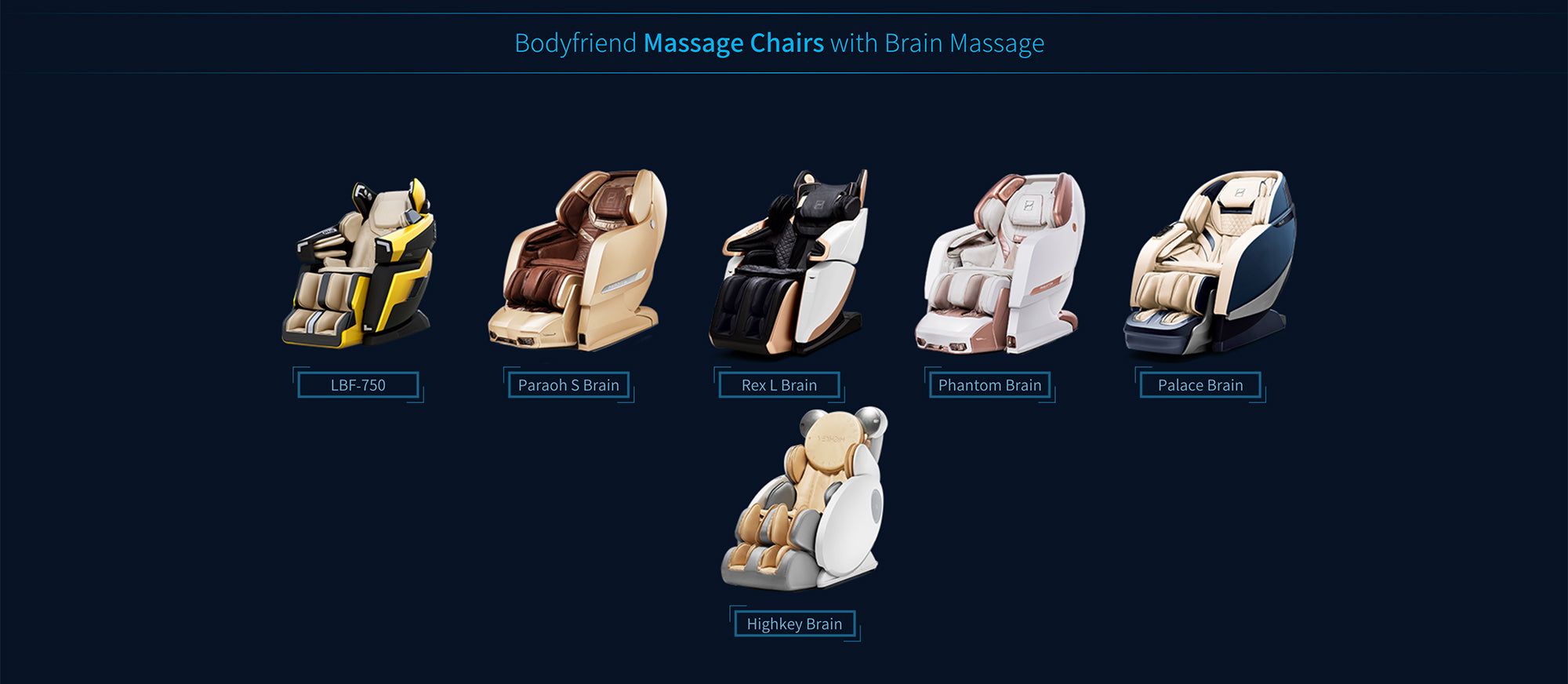 Following Chairs Comes With Brain Massage Feature LBF-750, Paraoh S Brain, Rex L Brain, Phantom Brain, Palace Brain, Highkey Brain