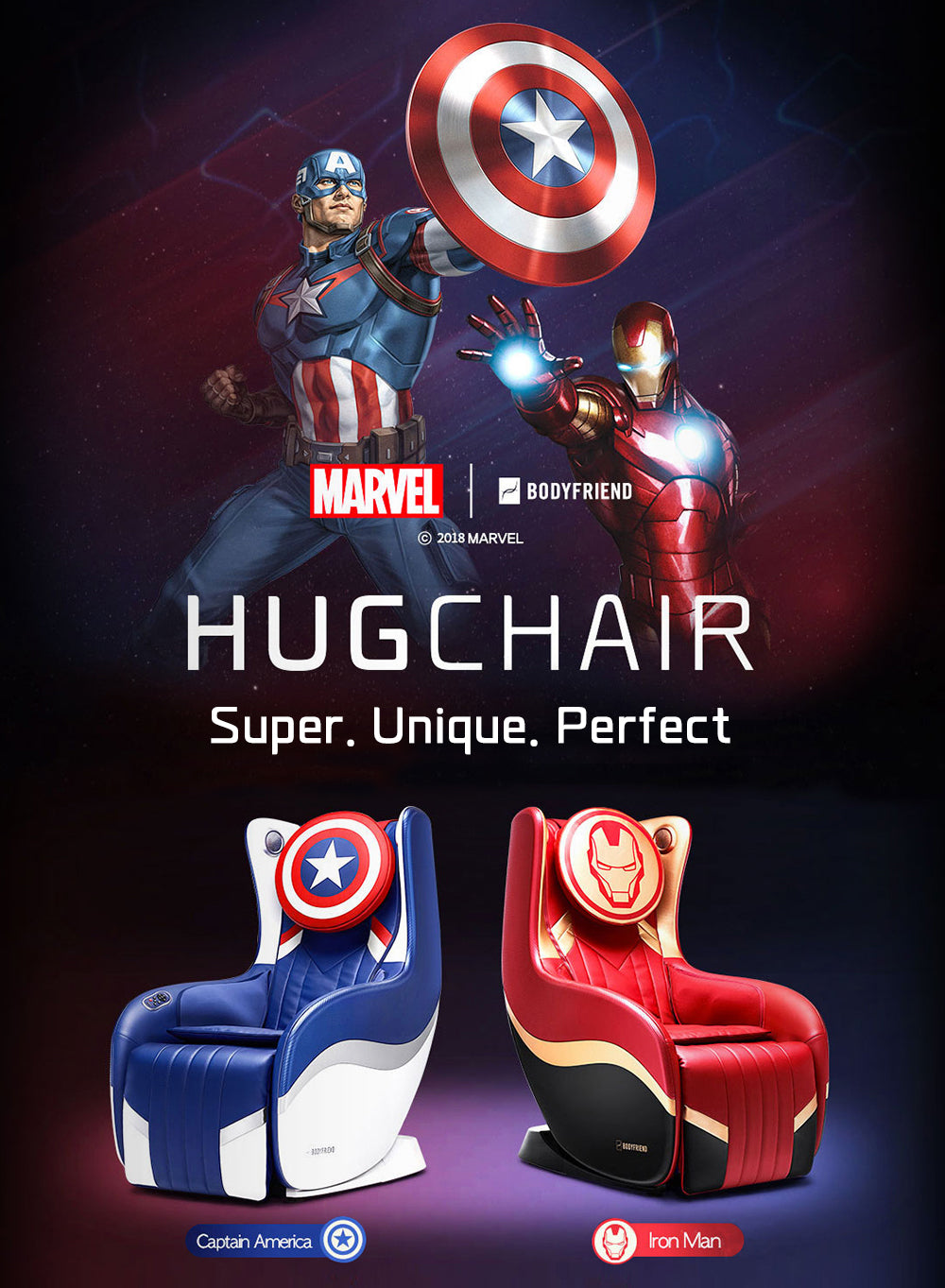 Marvel And Bodyfriend Collaboration Massage chair