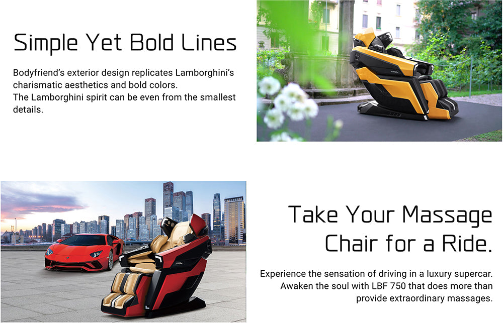The World's First Ever Lamborghini Massage Chair