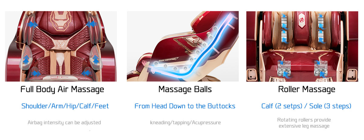 Special Features Such as Full Body Air Massage, Massage Balls, And Roller Massage