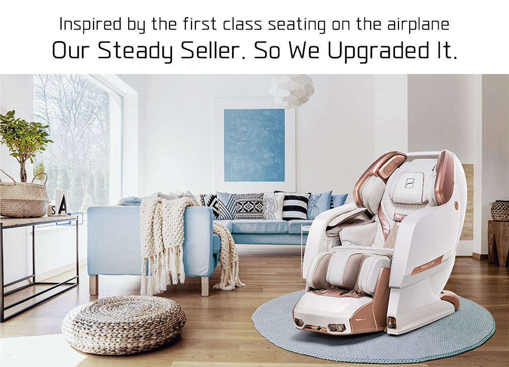 Massage Chair Inspired By the First Class Seating on The Airplane Now Upgraded