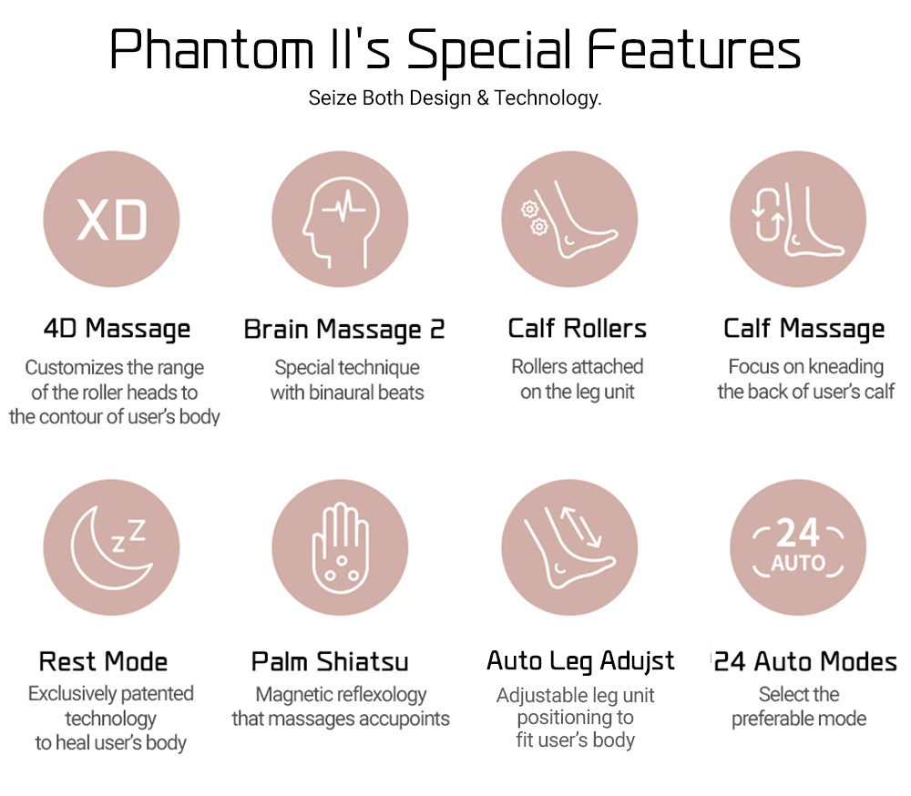 Phantom 2's Special Features Such as Brain Massage 2 And 4D Massage