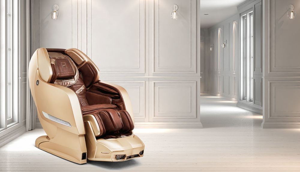 The Pharaoh massage chair placed in a house.