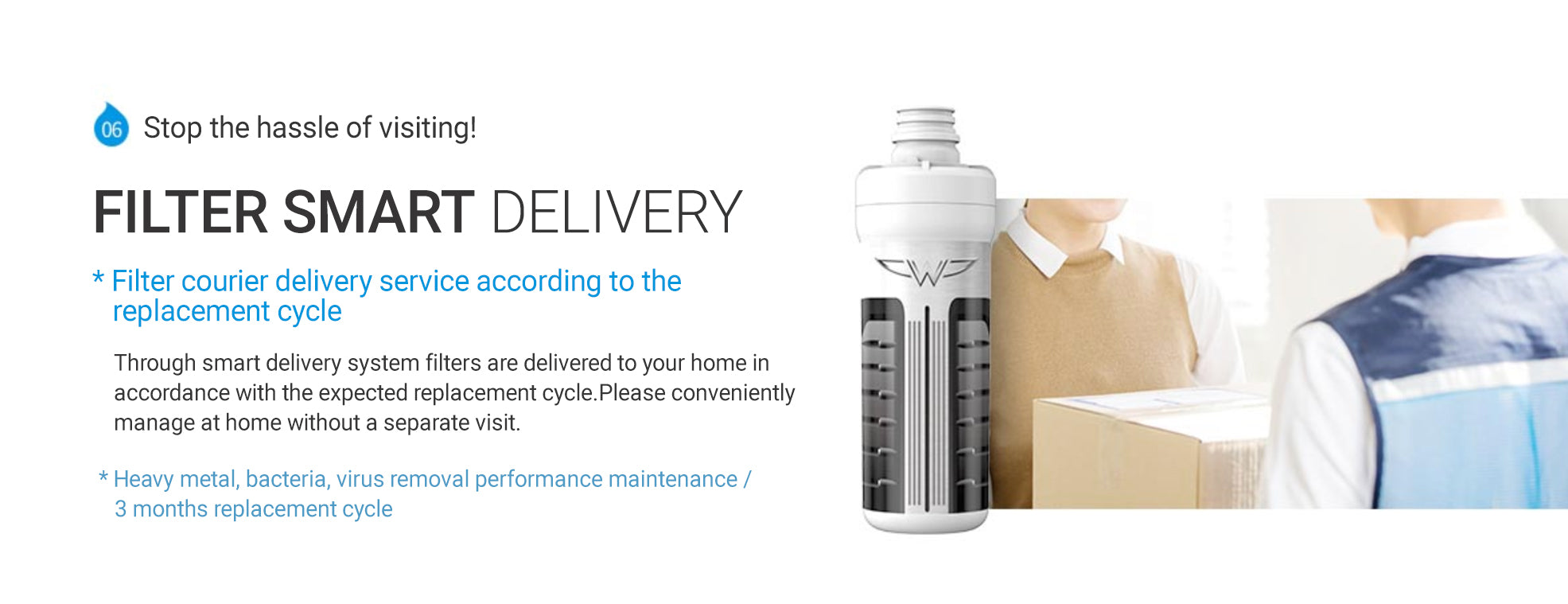 Filter Smart Delivery, Filter Courier Delivery Service According to The Replacement Cycle