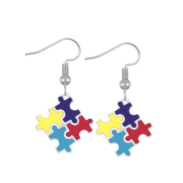 Colorful Autism Awareness Necklaces