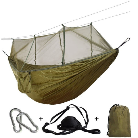 Mosquito Net Outdoor Portable Hammock for Backpacking Camping Hiking Hanging