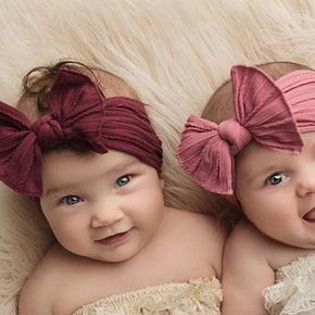 Baby Big Bow Soft Nylon Headbands Flower