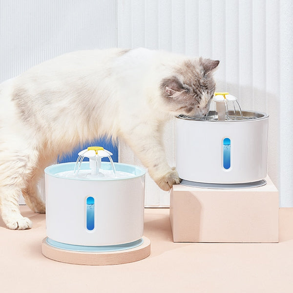 Cat Dog Drinking Bowl Pet USB Automatic Water Dispenser Super Quiet Drinker Auto Feeder