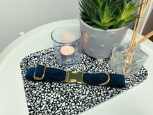 Load image into Gallery viewer, MIDNIGHT NAVY BLUE VELVET LUXE | COLLAR