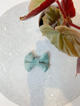 Load image into Gallery viewer, DUCK EGG BLUE VELVET LUXE | BOW TIE
