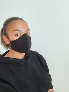 JET BLACK | FACE MASK