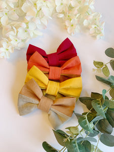MUSTARD YELLOW HALF&HALF | BOW TIE