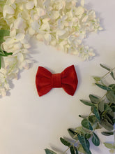 Load image into Gallery viewer, ROBYN RED VELVET LUXE | BOW TIE