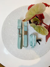 Load image into Gallery viewer, DUCK EGG BLUE VELVET LUXE | COLLAR & LEAD SET