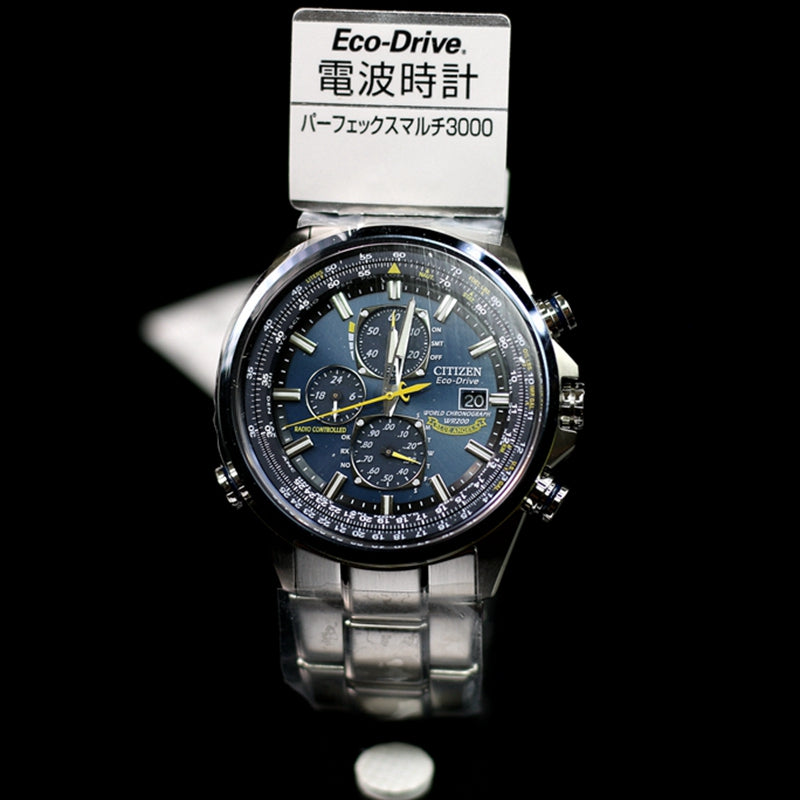 CITIZEN PROMASTER Blue Angels Men's Chronograph Eco Drive Watch AT8020-54L - IPPO JAPAN WATCH