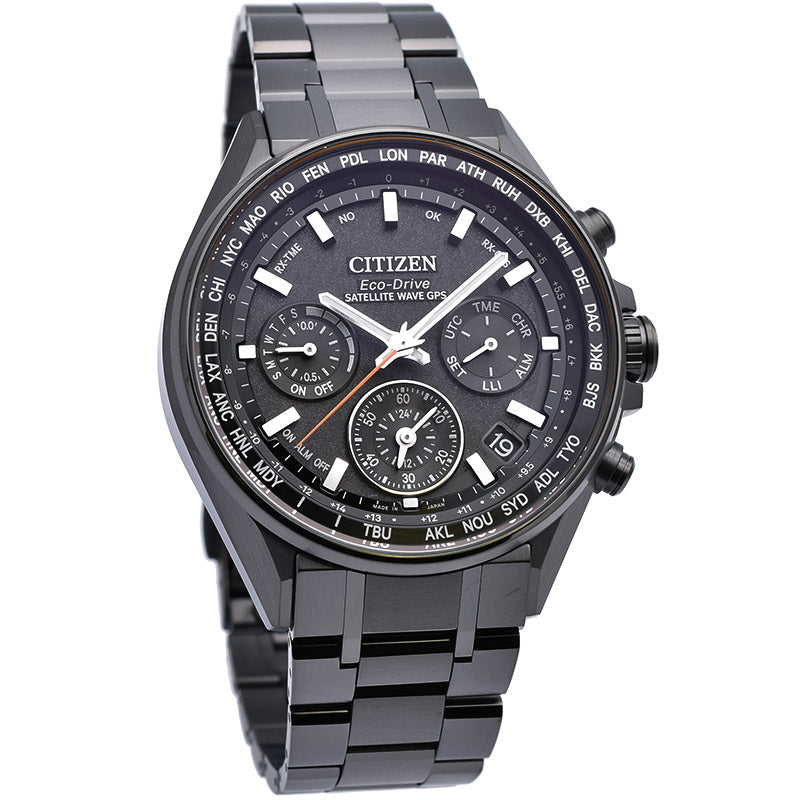 CITIZEN ATTESA CC4004-58E Eco-Drive GPS Atomic Dbl Direct Flight F950 made Japan - IPPO JAPAN WATCH