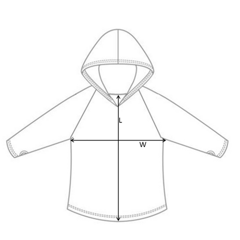 Size Guide basic hoody
