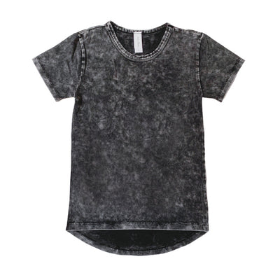 Stonewash Long Back Tee - Big Kids