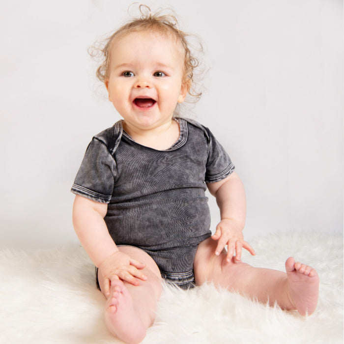 Stonewash Short Sleeve Bodysuit