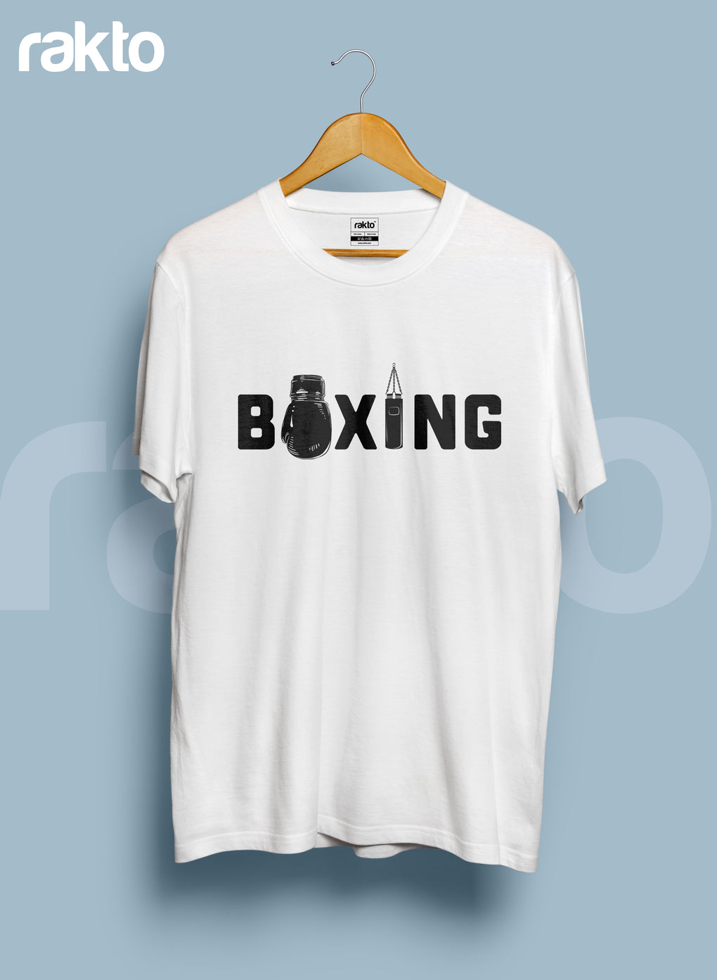 Boxing Round Neck Men's T-Shirts