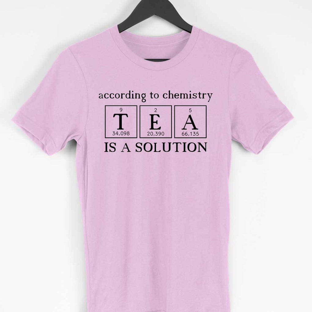 According To Chemistry Tea Is A Solution Round Neck Men's Tshirt