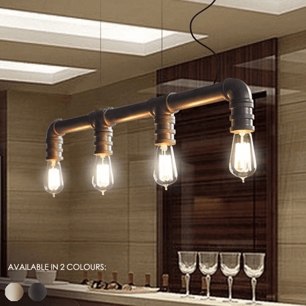 4 Head Water Pipe Industrial Pendant Light - at´creative
