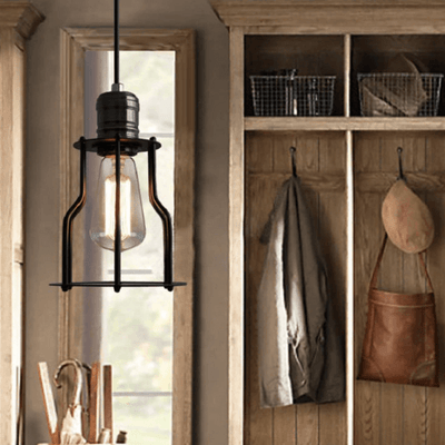 6 Head Industrial Wire Cage Chandelier / Pendant Lights - Atcreative