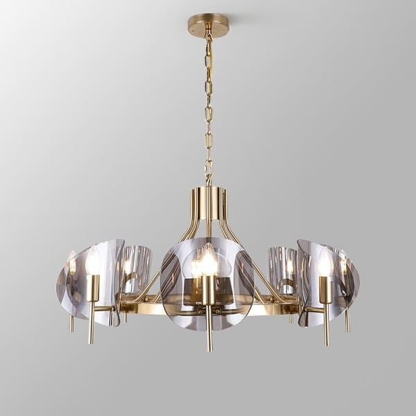 8 - Light Modern Wagon Wheel Chandelier - at´creative