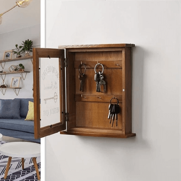 Alistair - Wooden Key Storage Cabinet - Atcreative